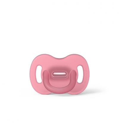 Smoczek 100% silikonowy fizjologiczny SX Pro 0-6m różowy