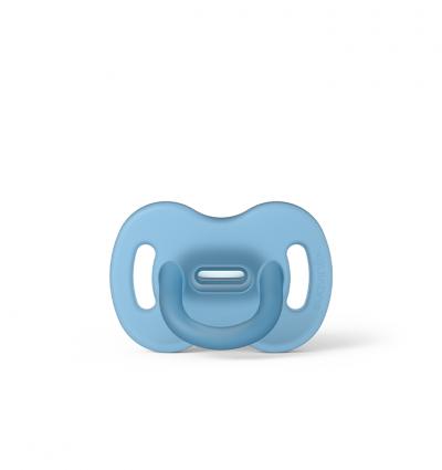 Smoczek 100% silikonowy fizjologiczny SX Pro 6-18m niebieski
