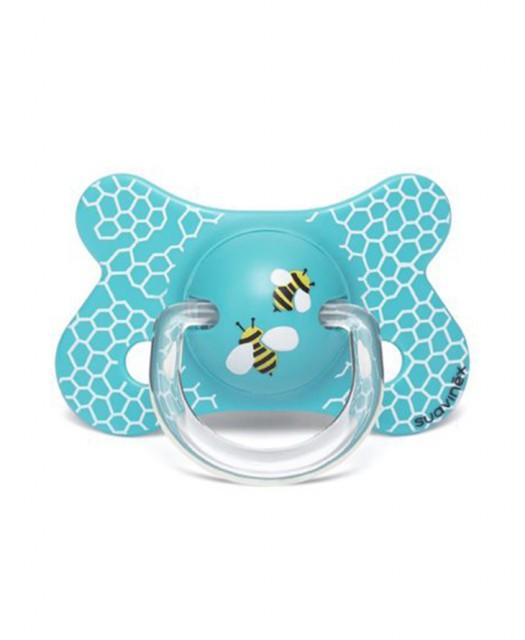 Smoczek fizjologiczny PRÊT-À-PORTER 4-18m Plaster miodu niebieski
