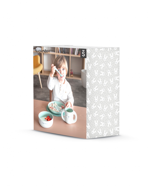 Hygge Toddler Feeding Set Green opakowanie b