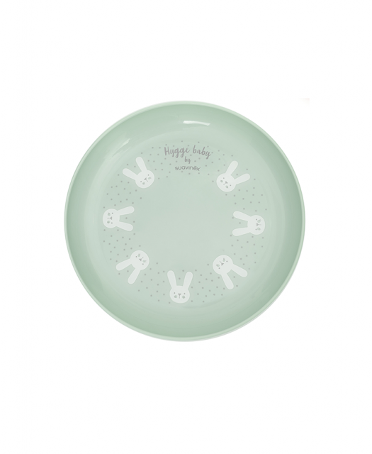 Hygge Toddler Feeding Set Green plate b