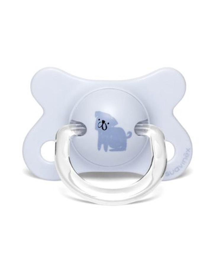 Smoczek fizjologiczny PRÊT-À-PORTER -2-4m Pies niebieski