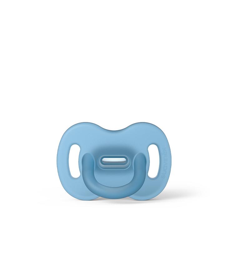 Smoczek 100% silikonowy fizjologiczny SX Pro 0-6m niebieski